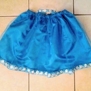 Girl Blue Sequin Skirt Headband size 5 handmade